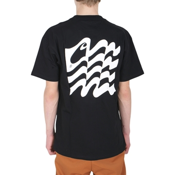 Carhartt T-shirt s/s Waving State Black / White