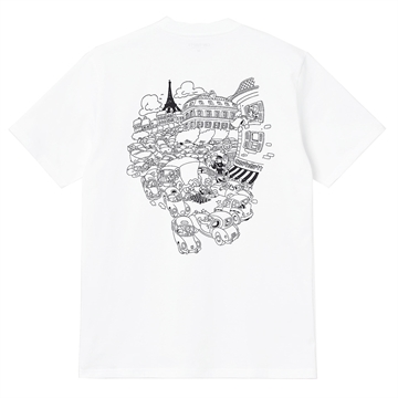 Carhartt WIP T-shirt s/s Picnic in Paris White