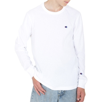 Champion Crewneck Long Sleeve T-shirt 214923 WHT