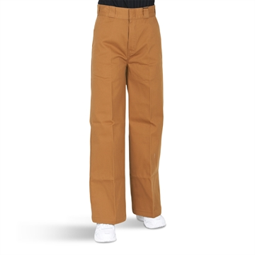 Dickies Girls Pants Winnsboro Wide Brown Duck