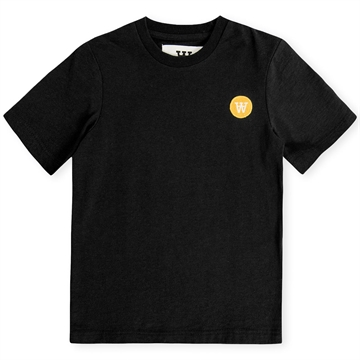 Wood Wood Double A Ola Tee Chest Logo 5703-2222 Black