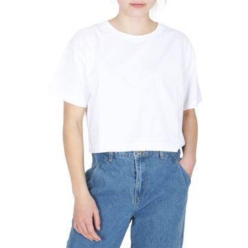 Finger in the Nose Cropped T-shirt SC 002 White