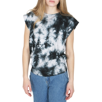 Finger in the Nose T-shirt sleveless Soft Black Tie Dye
