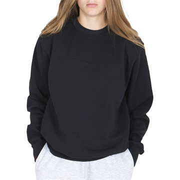 Fruit of the Loom Classic Set In Crew Sweat Black