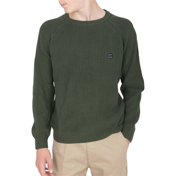 GRUNT Nick Crew Knit Olive