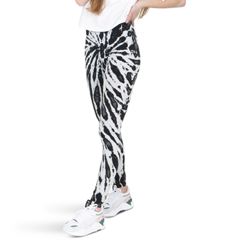Finger in the Nose Leggings Black / White Tie Dye