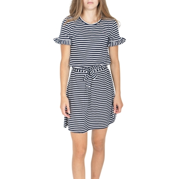 Tommy Hilfiger Girls Dress Ruffle Stripe 05275