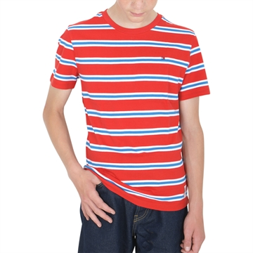 Tommy Hilfiger Boys T-shirt Bold Stripe 05842 Red