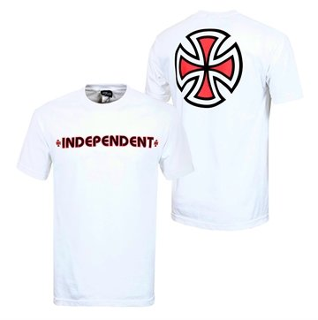 Independent T-shirt Adult Bar Cross White