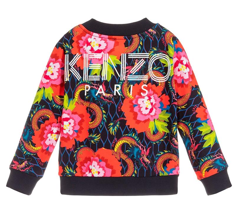 Kenzo Sweatshirt Logo Navy AOP KP15208