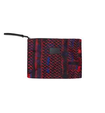 Lala Berlin Pouch Pili Embrodery Check Kufiya Red