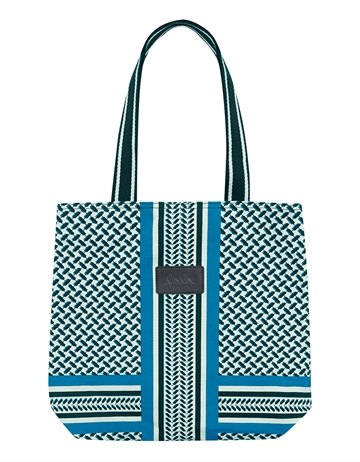 Lala Berlin Tote Carmela Coloured Kufiya Shadow Seaport