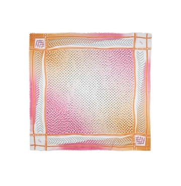 Lala Berlin Cube Lattice Kufiya Pink Orange