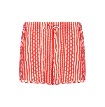 Lala Berlin Petzi Shorts Beachstripe Watermelon