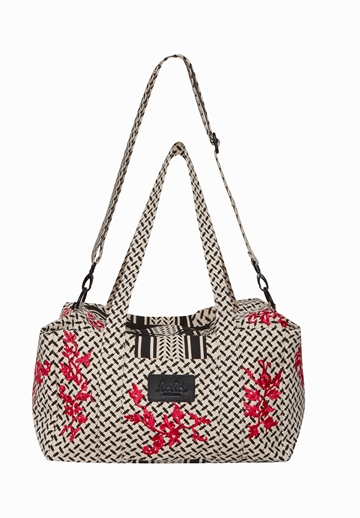 Lala Berlin Big Bag Muriel embroidery Kufiya Flowerspray Barberry