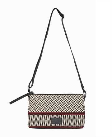 Lala Berlin pouch Fabiana kufiya striped Barberry