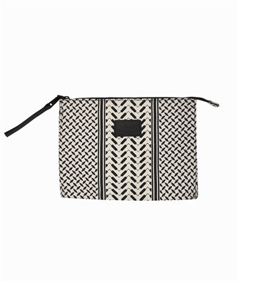 Lala Berlin Pouch Pili Kufiya Off white/black