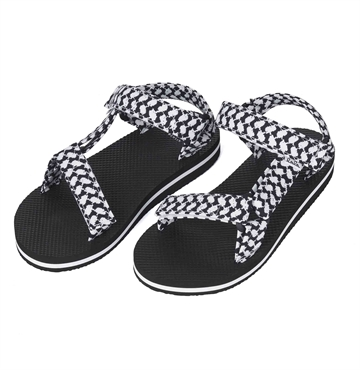 Lala Berlin Sandals Alanis Kufiya Scribble Black