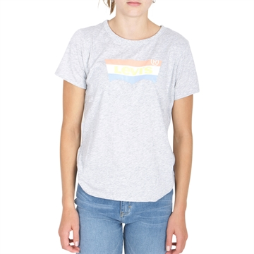 Levis Girls Graphic Tee Grey Heather