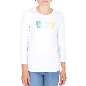 Levis Girls Tee LS White