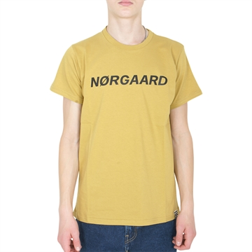 Mads Nørgaard Tee Printed Thorlino 200267 Burnished Gold