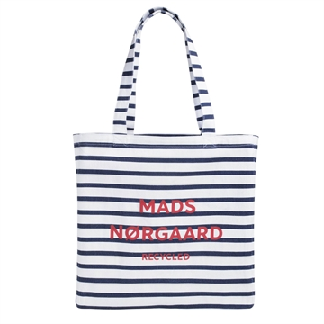 Mads Nørgaard Bag Athene Recycled Print 200195 Offwhite/Navy