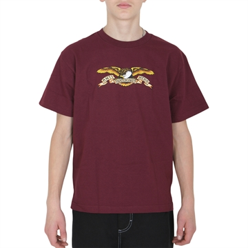 ANTI HERO T-shirt S/S TEE EAGLE BURGUNDY