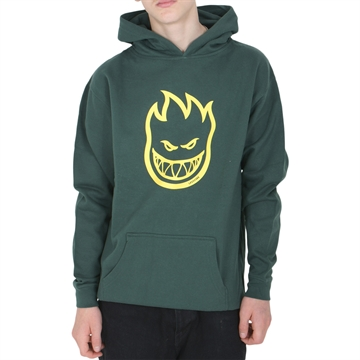 Spitfire Hoodie Big Head Green/Yellow