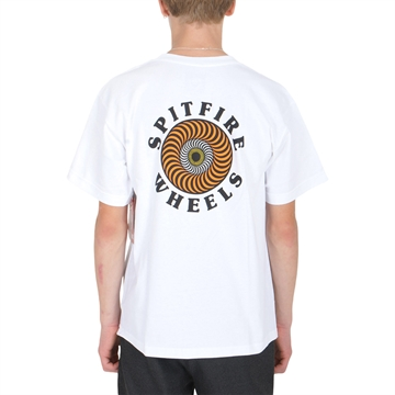 Spitfire T-shirt Wheels White/Orange