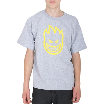 Spitfire T-shirt Big Head Grey Yellow