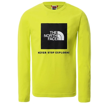 The North Face T-shirt L/S Box BLACK/SULPHUR SPRING GREEN