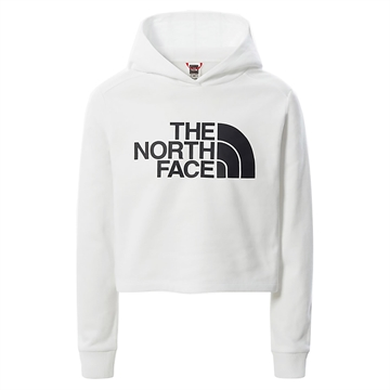 The North Face Sweat Hoodie Girls Drew Cropped White