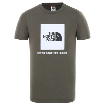 The North Face T-shirt Box NEW TAUPE GREEN/TNF WHITE