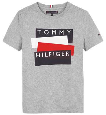Tommy Hilfiger T-shirt Sticker 05849 Grey Heather