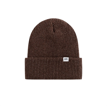 Wood Wood Double A Beanie 0811-9969 Dark Brown