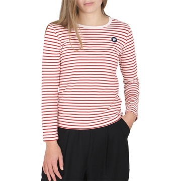 Wood Wood Double A Ola Tee 5713-2222 Offwhite/Red Stripes