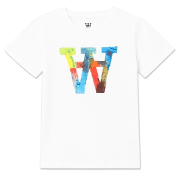 Wood Wood Double A Ola Tee Big Logo 5704-2222 Bright White Multi