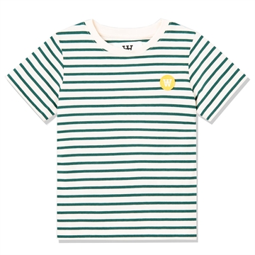Wood Wood Double A Ola Tee s/s 5713-2222 Offwhite/ Faded Green Stripes