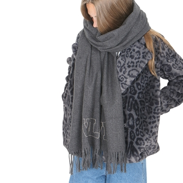 Zadig & Voltaire Scarf X11023 Charcoal Marl